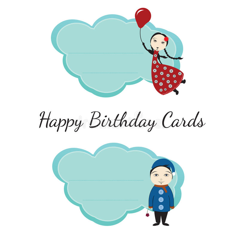 Download Happy Birthday Cards For Kids Stock Vector - Image: 22454308