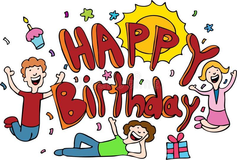 Happy Birthday Cartoon vector illustration