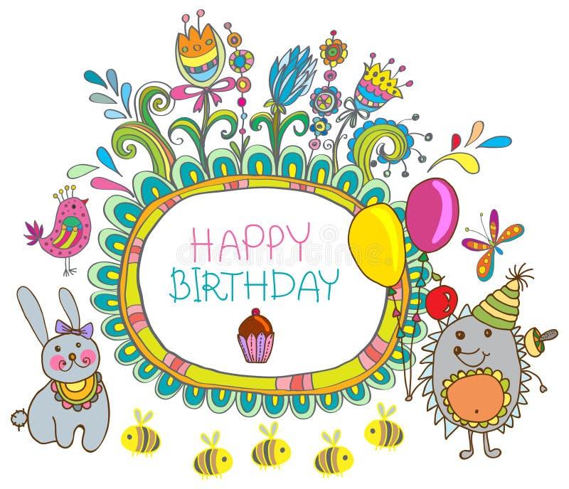 Download Happy Birthday Cartoon Card Stock Vector - Image: 28465564