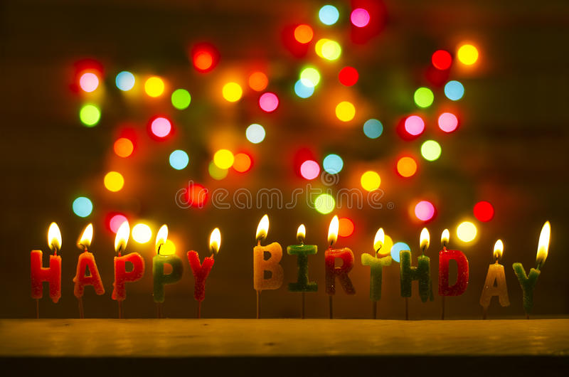 Happy birthday celebration royalty free stock photography