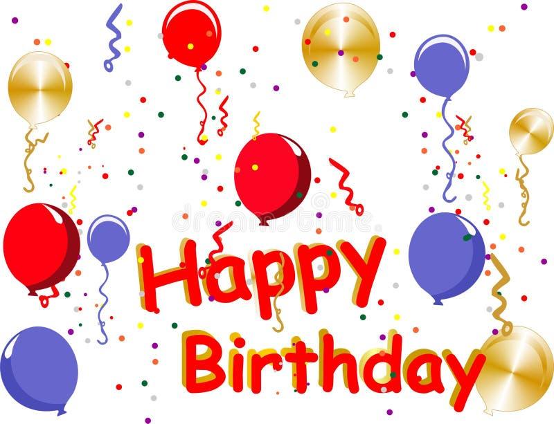 Happy Birthday celebrations stock illustration