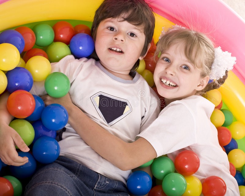 Happy birthday of children. Boy and girl stock image