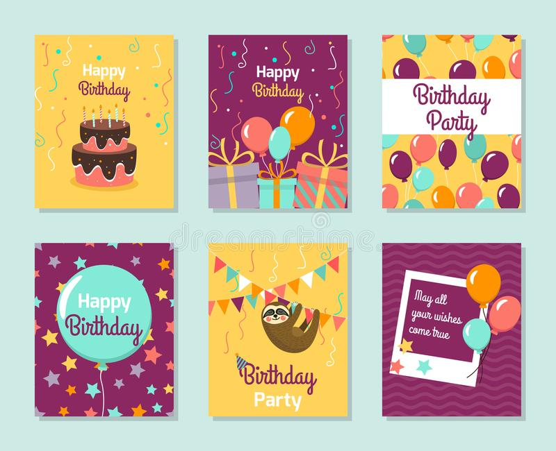 Happy Birthday Collection Greeting Templates Invitation Cards To - Small invitation cards templates