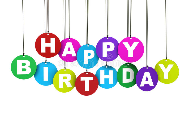 Download Happy Birthday Colorful Concept Stock Illustration - Image: 33017693