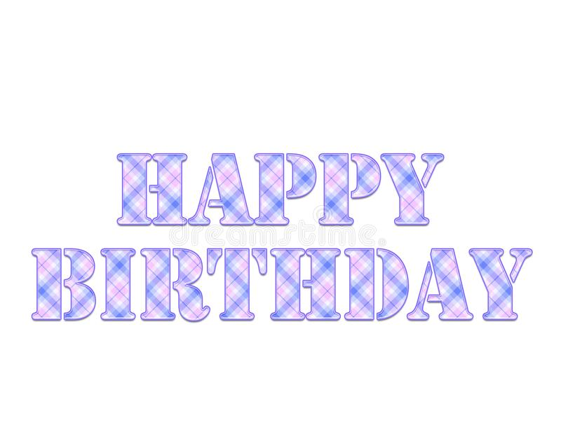 Happy Birthday colorful square pattern illustration. For your designs works royalty free illustration