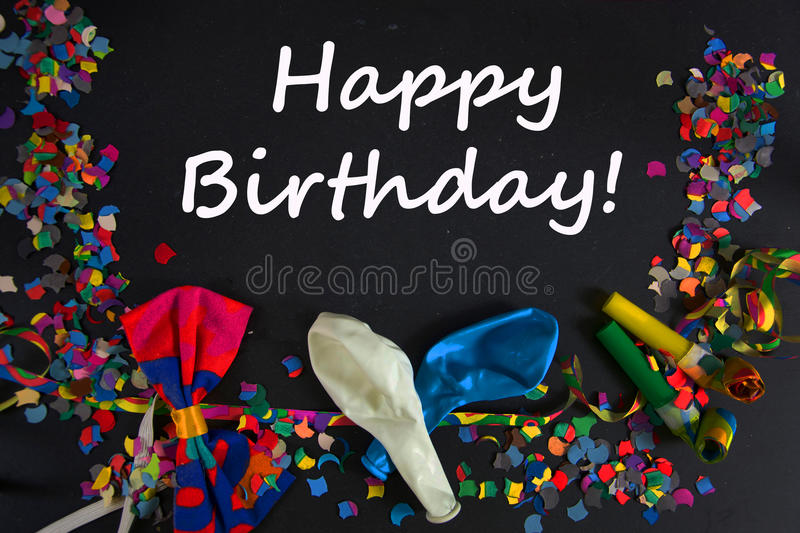 Happy Birthday. A colourful party background royalty free stock photos