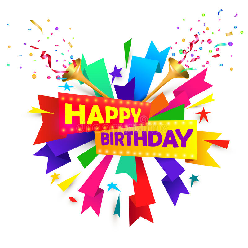 Happy Birthday! Musical Congratulations. Stock Vector