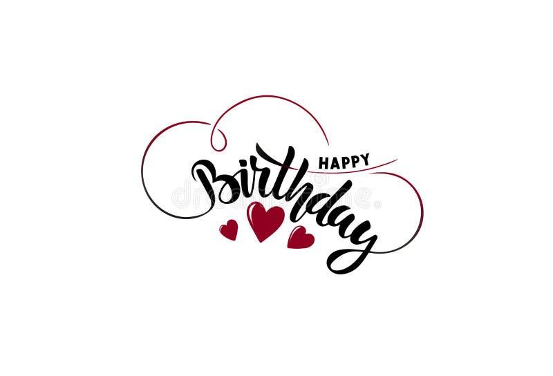Happy birthday. Congratulation. Lettering. vector illustration