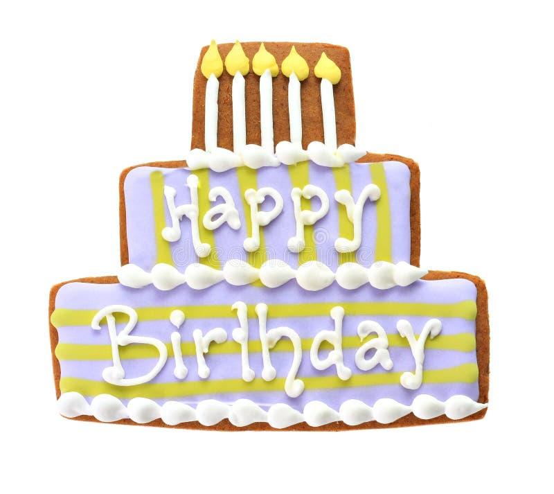 Happy birthday cookie. royalty free stock photos