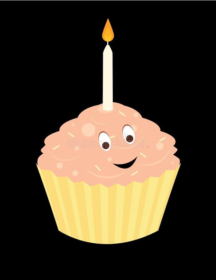 Happy birthday cupcake 2 royalty free illustration
