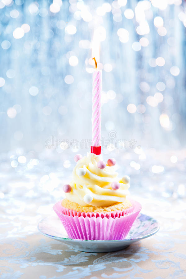 happy birthday cupcake stock image  image of first
