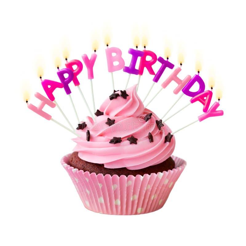 Happy Birthday Cupcake Stock Image Image Of Against