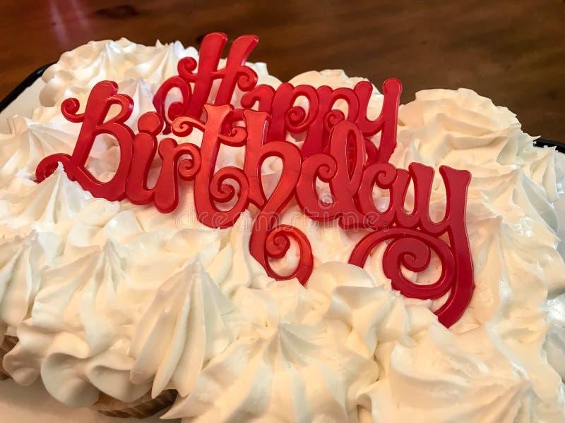 Happy birthday cupcakes royalty free stock image