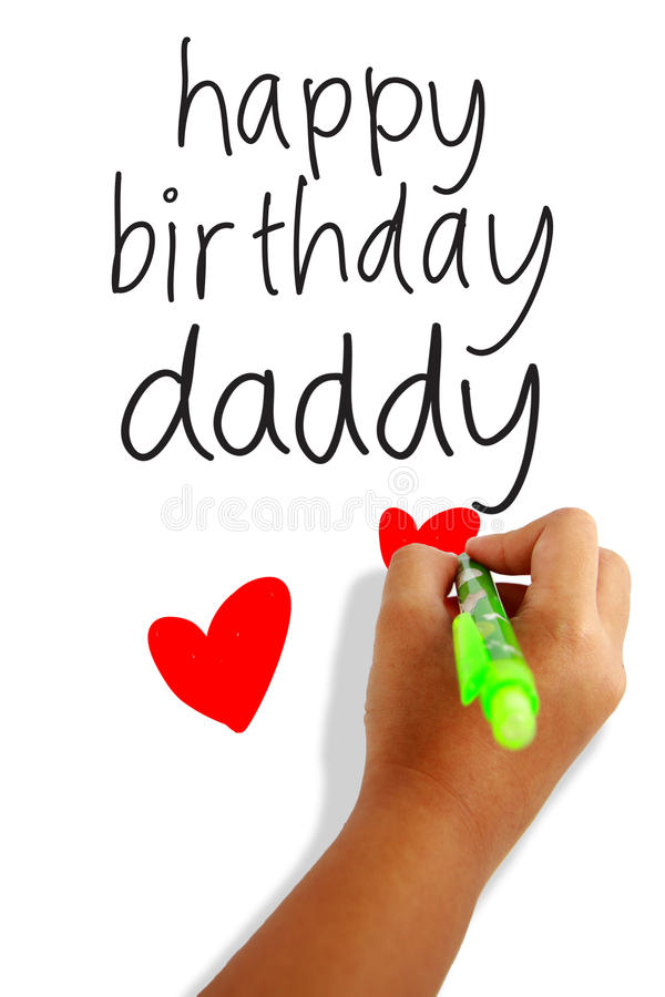 Happy birthday daddy royalty free stock images