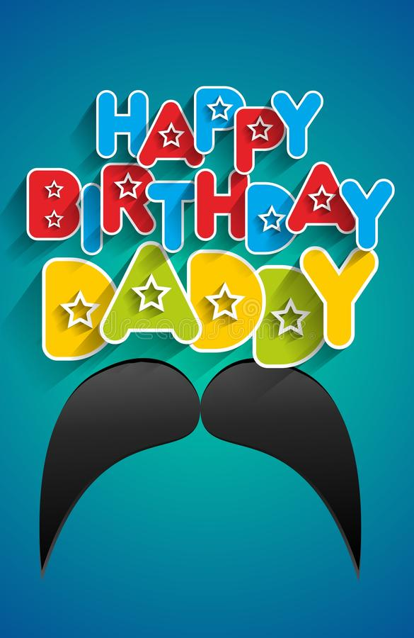 download happy birthday daddy stock illustration image of color 69307639