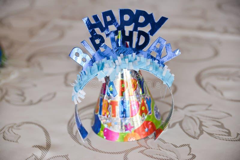 Happy birthday decoration stock photography