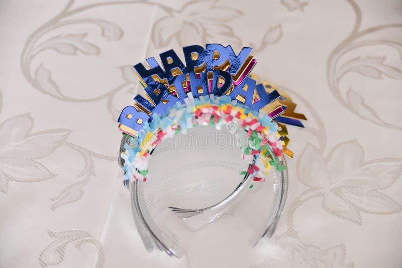Happy birthday decoration royalty free stock image