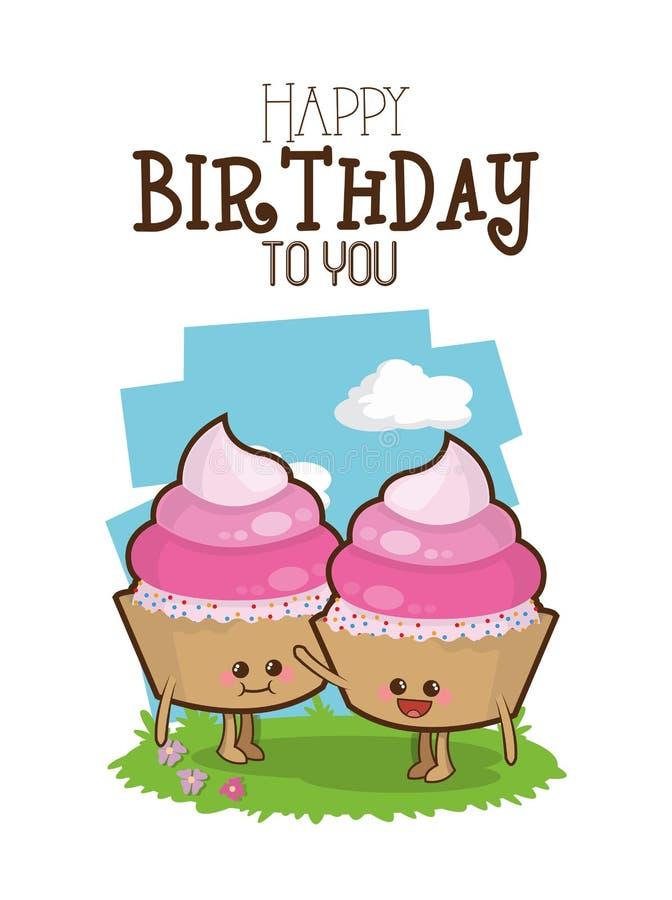 Happy birthday design. Happy birthday concept with cartoon icon design, vector illustration 10 eps graphic vector illustration