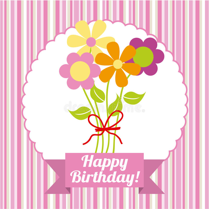 Happy birthday. Design, illustration eps10 graphic stock illustration