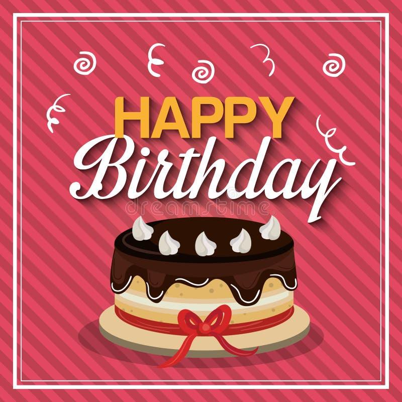 Happy birthday design. Illustration eps10 graphic stock illustration