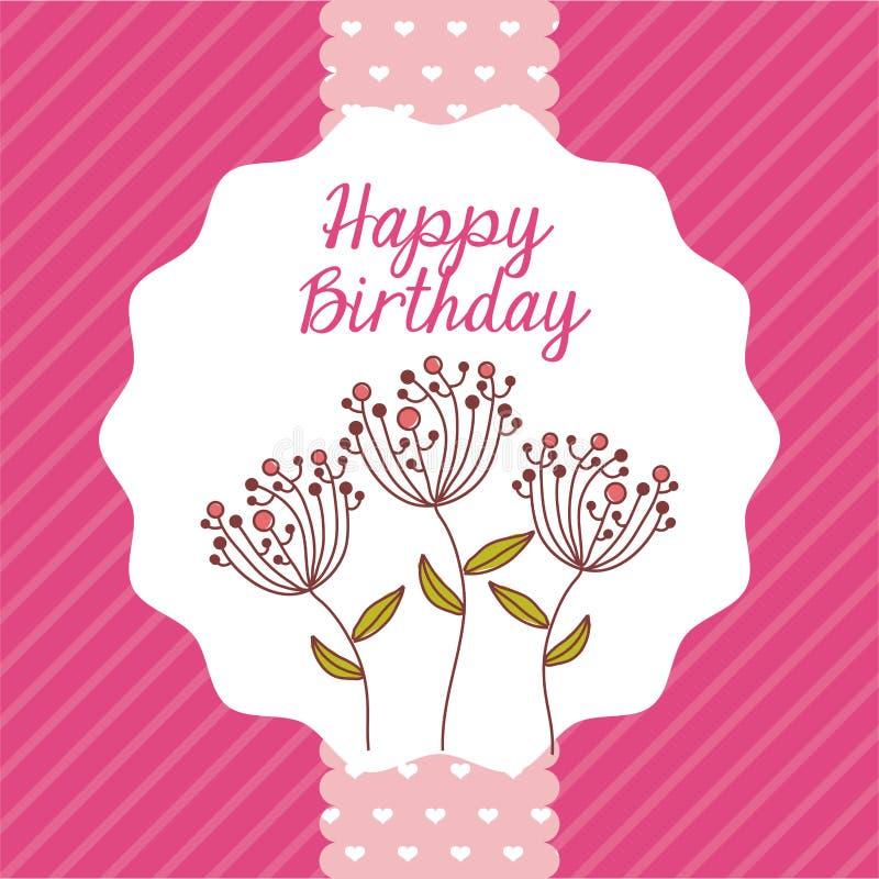 Happy birthday. Design, vector illustration eps10 graphic stock illustration