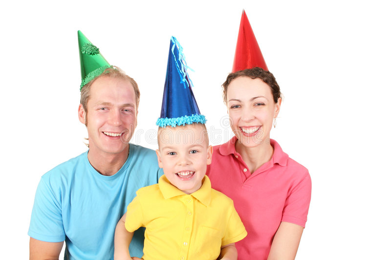 Happy birthday family. Happy birthday color shirt family with boy 2 royalty free stock images