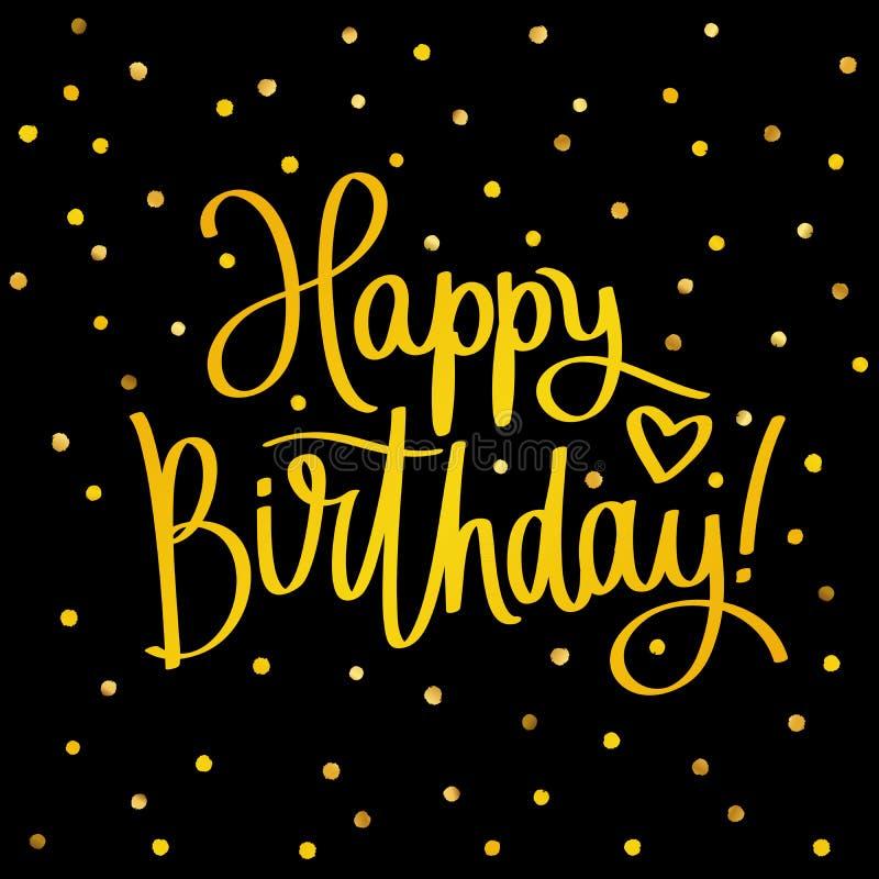 Happy Birthday. Fashionable calligraphy. stock illustration