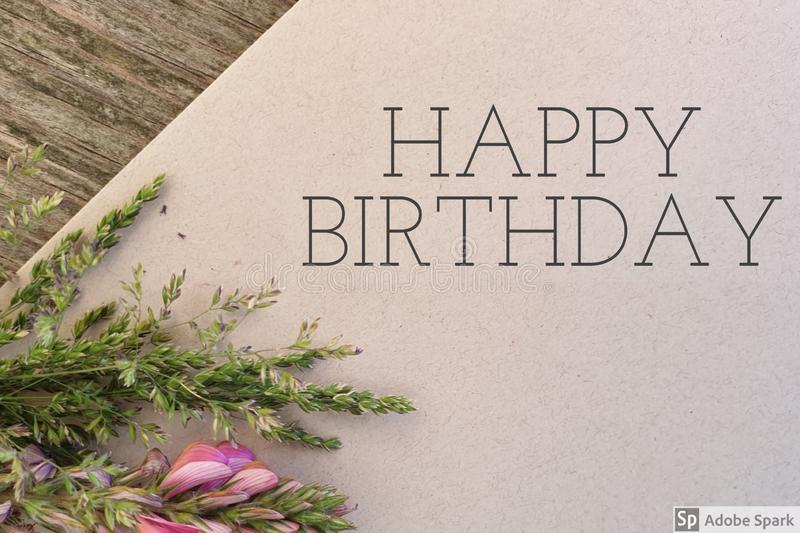 Happy Birthday. Flower card congratulations stock images