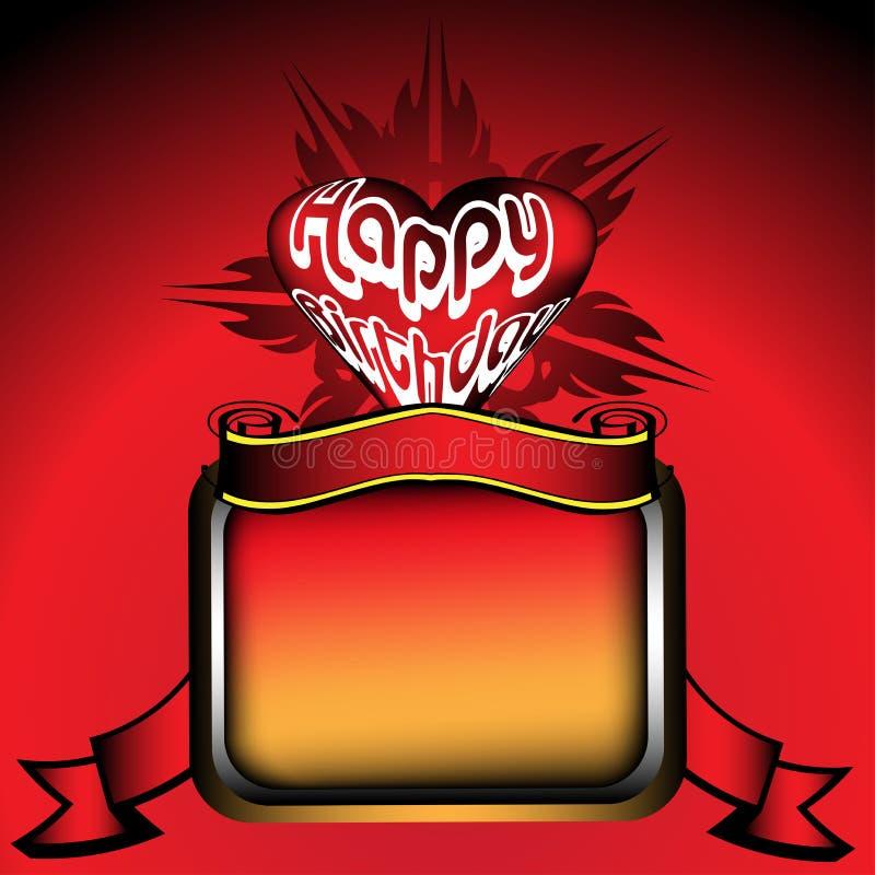 Happy Birthday frame royalty free illustration