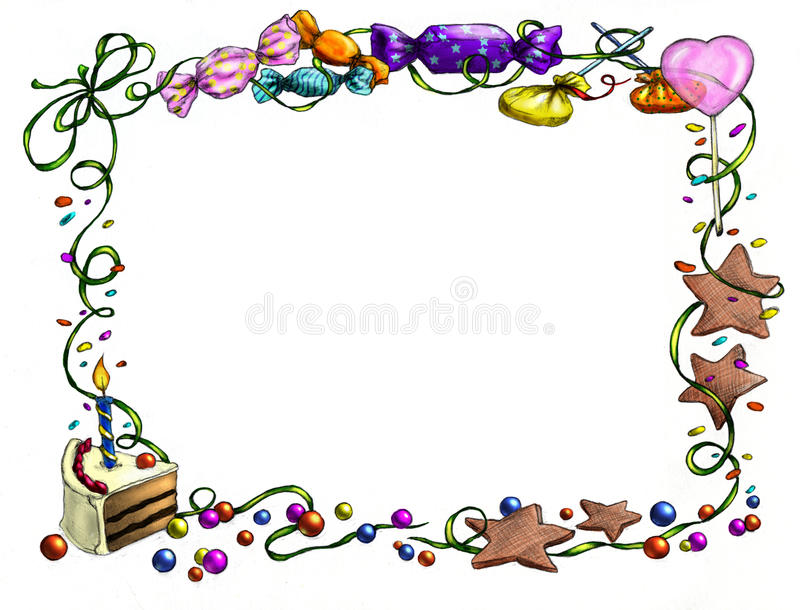 Happy birthday frame stock illustration. Illustration of artwork ...