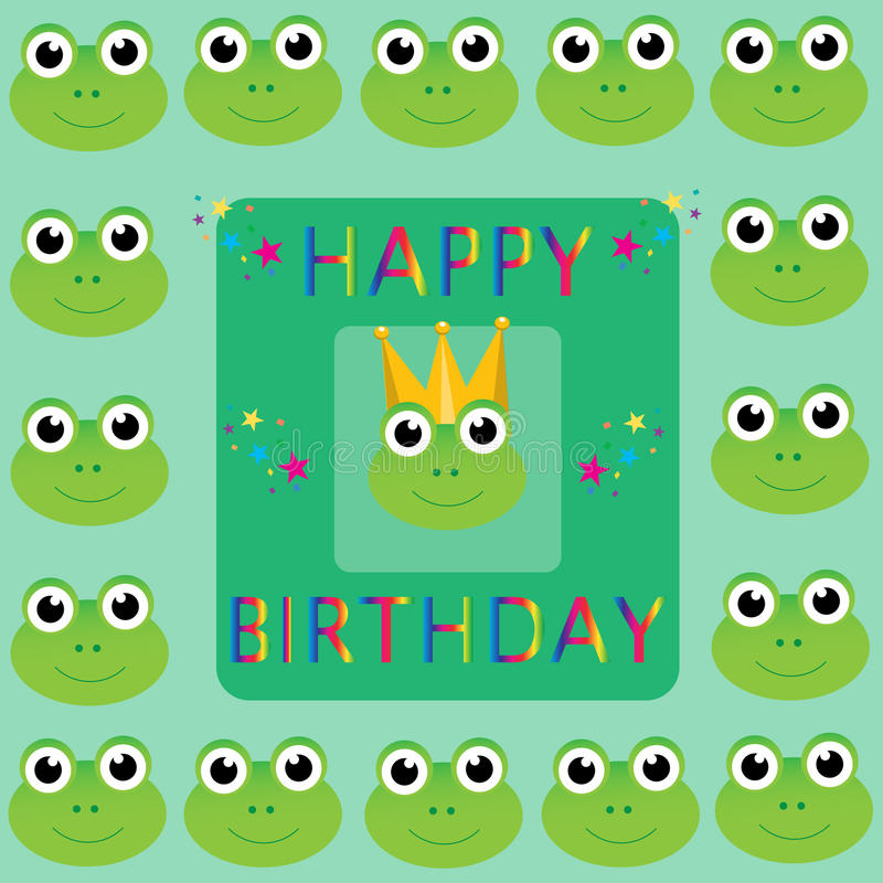 Download Happy Birthday Frogs stock vector. Image of smile, golden - 11858389