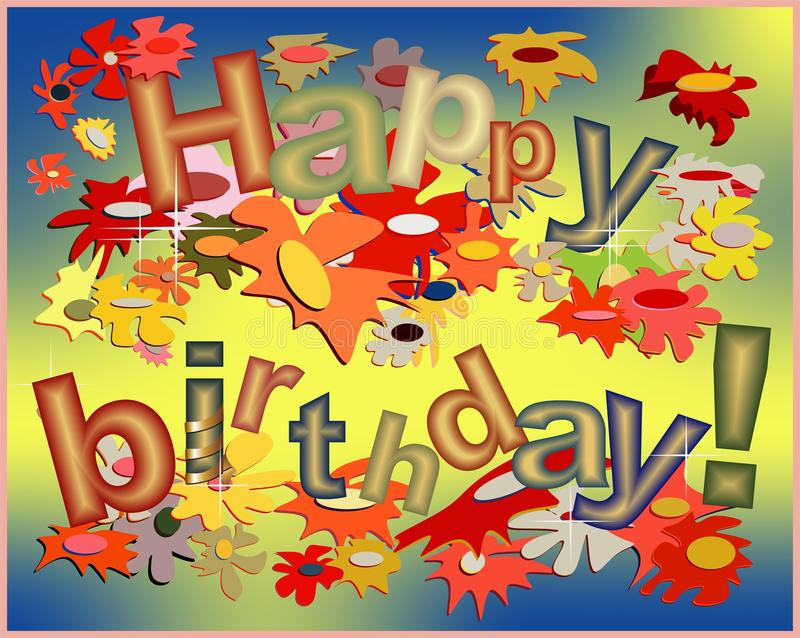 Happy birthday funny card vector illustration