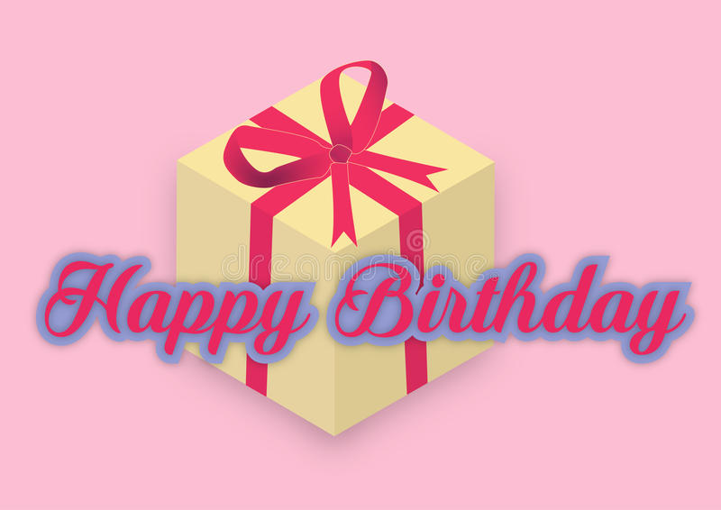 Happy birthday with gift stock images
