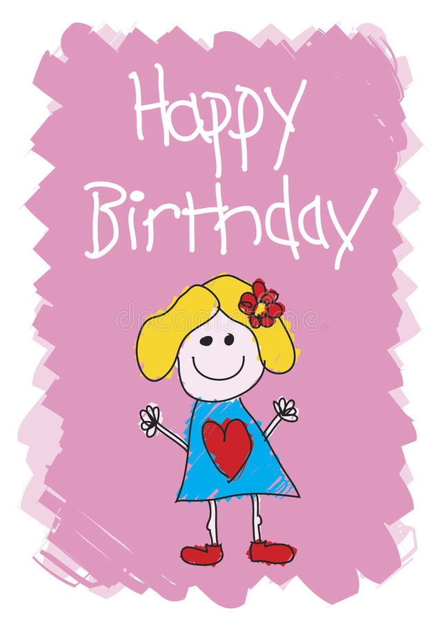 Happy Birthday - Girl. Happy Birthday Card - To a girl