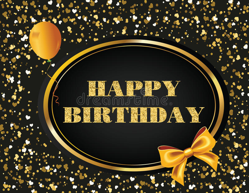 Happy birthday glitter vector message stock photography