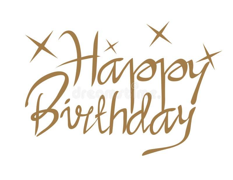 Happy Birthday Gold stock image