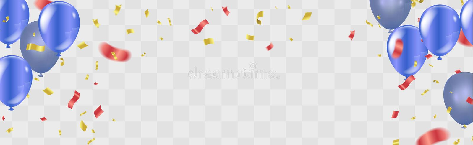 Happy birthday Gold confetti Celebration background vector illus vector illustration
