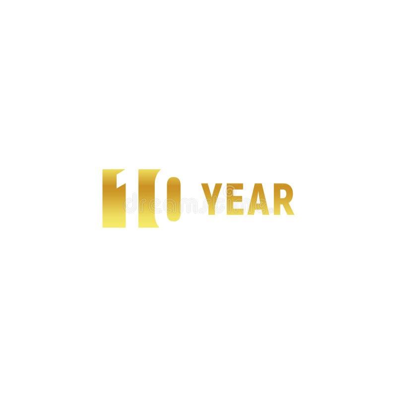 10 Year Happy Birthday Gold Logo On White Background Corporate