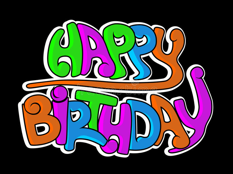 Download Happy birthday graffiti stock vector. Illustration of background - 9560574