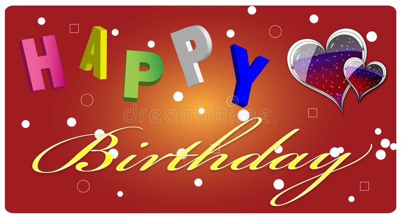 Download Happy Birthday Greeting Card Stock Illustration - Image: 16506271