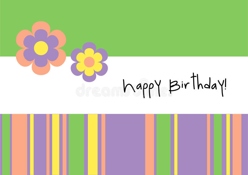 Happy Birthday! - Greeting Card. Template, web background, wallpaper, etc royalty free illustration