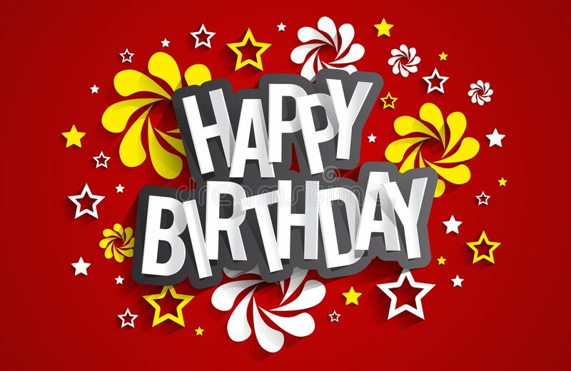 Happy Birthday Greeting Card. On Background vector Illustration vector illustration