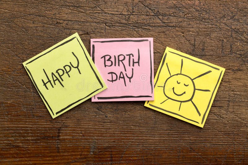 Download Happy Birthday Greeting Card Or Banner Stock Photo