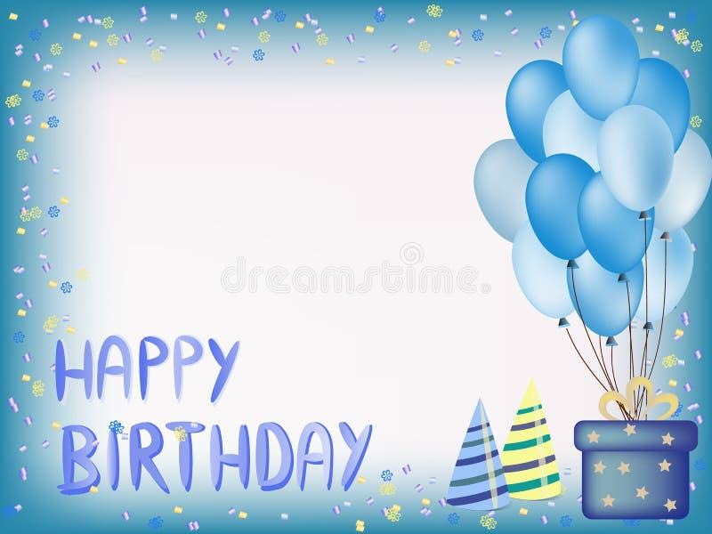 Happy birthday greeting card royalty free stock photo