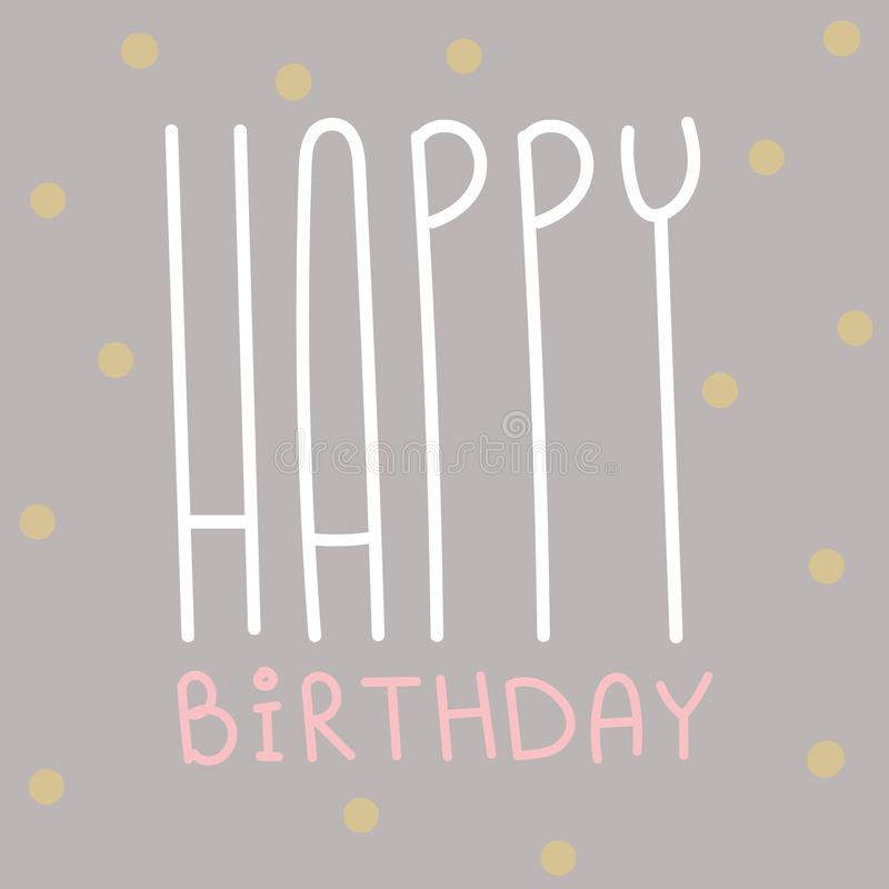 Happy birthday greeting card celebration postcard template vector illustration