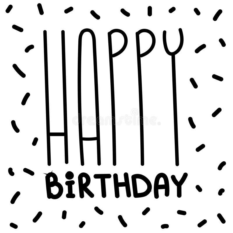 Happy birthday greeting card celebration postcard template stock illustration