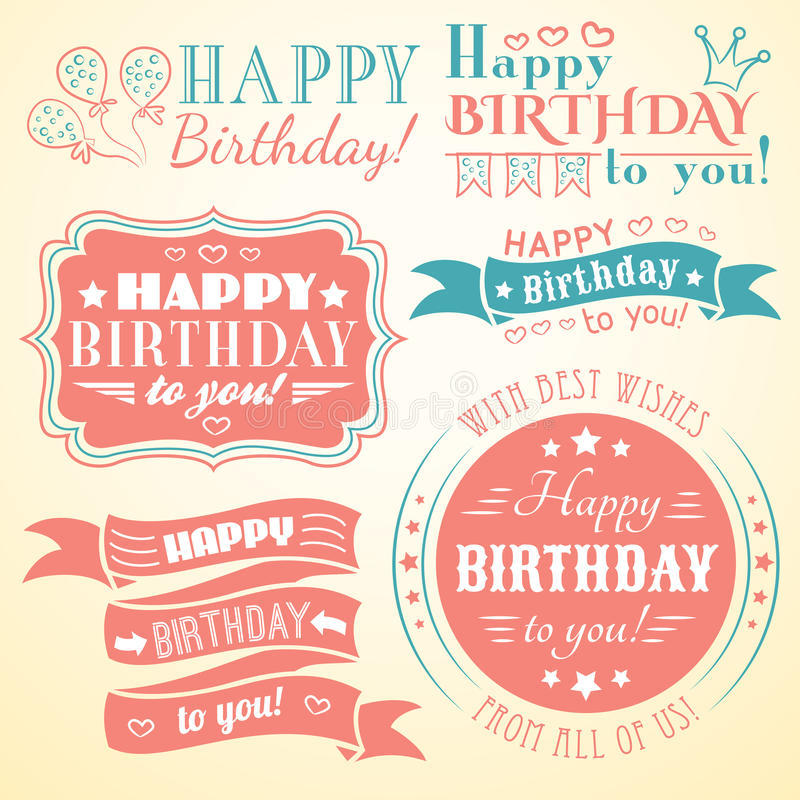 Happy birthday greeting card collection in holiday stock vector download happy birthday greeting card collection in holiday stock vector illustration of frame illustration m4hsunfo