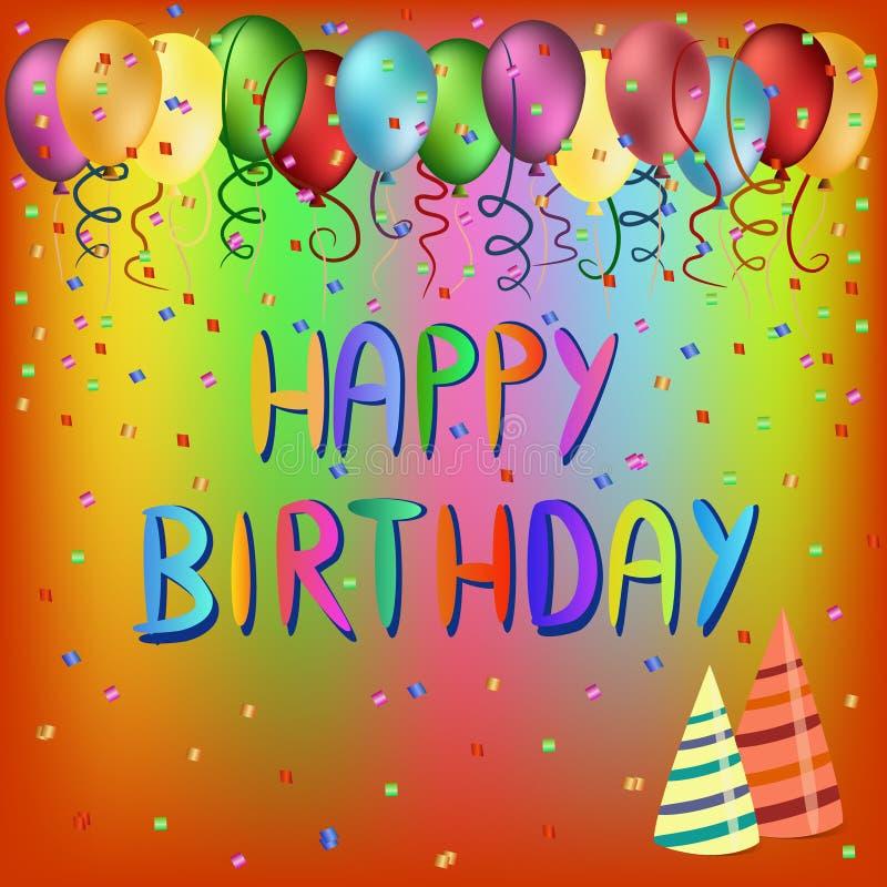Happy birthday greeting card stock photos