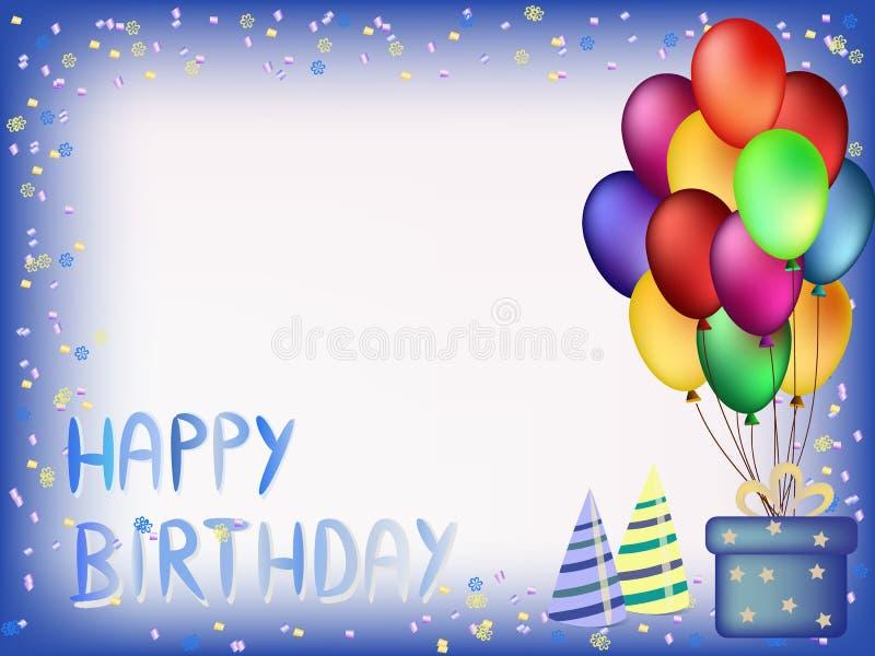 Happy birthday greeting card royalty free stock photography