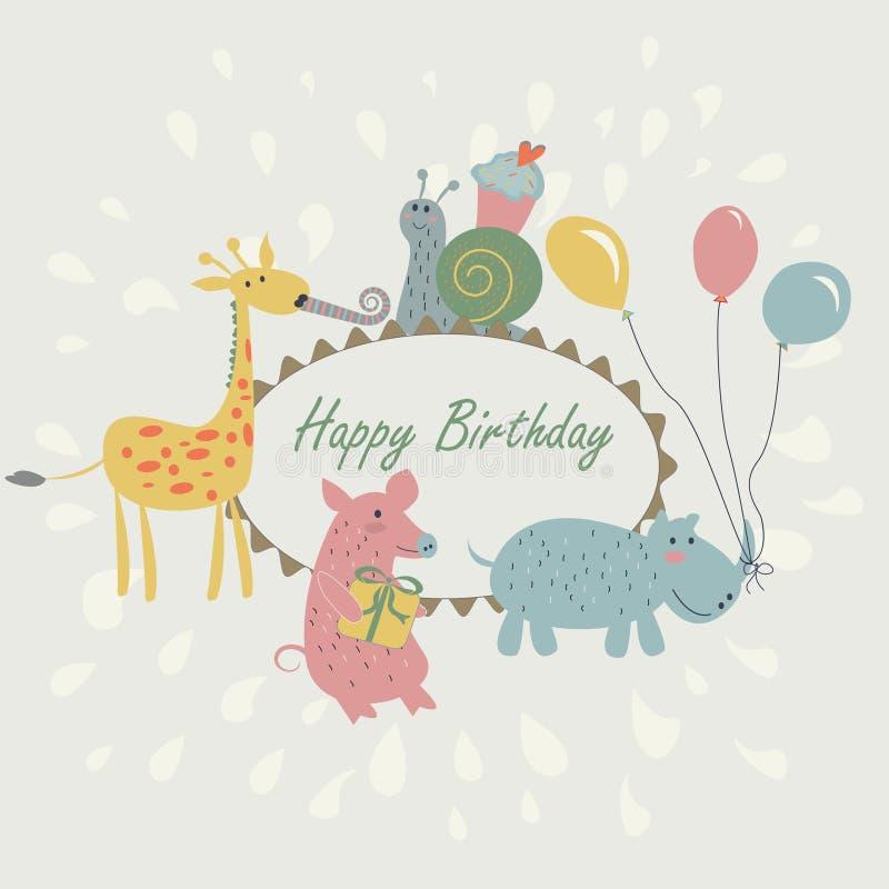Download Happy Birthday Greeting Card Stock Vector - Illustration: 35635252